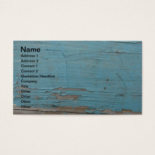 Blue Peeling Paint Business Card