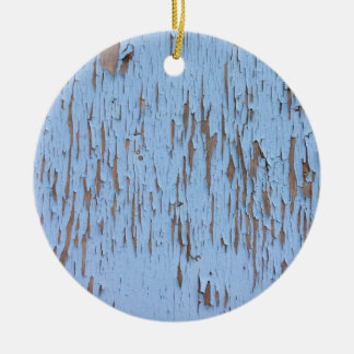 Blue Peeling Paint Christmas Ornament