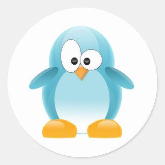 Blue Penguin Classic Round Sticker