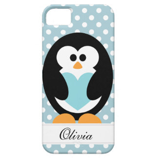Blue Penguin Love Case For The iPhone 5