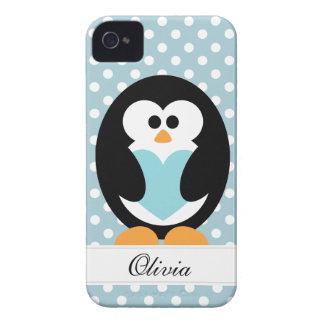 Blue Penguin Love iPhone 4 Case-Mate Cases