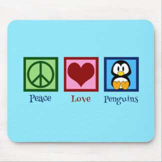 Blue Penguin Mouse Pad