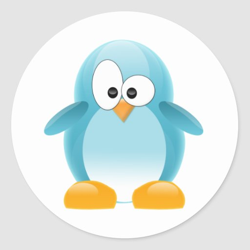 Blue Penguin Stickers