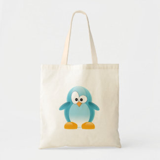 Blue Penguin Tote Bag