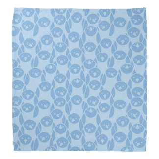 Blue penguins pattern background bandana