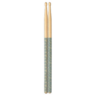 Blue penguins pattern background drumsticks