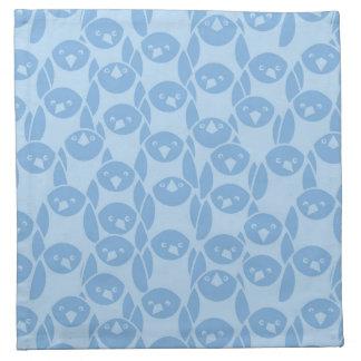 Blue penguins pattern background napkin