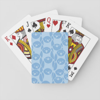 Blue penguins pattern background playing cards