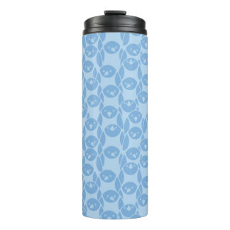 Blue penguins pattern background thermal tumbler
