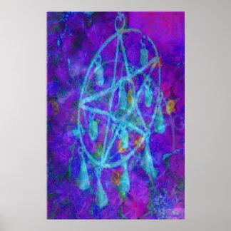 Blue Pentacle Royale by JudyMarisa Print