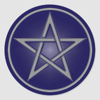 Blue Pentacle Sticker