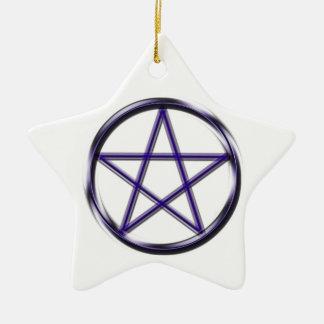 Blue Pentagram Ceramic Star Decoration