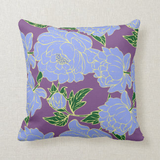 Blue Peonies Cushion