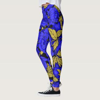 Blue Peonies Leggings