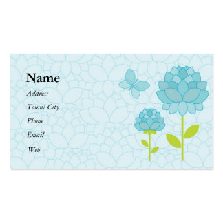 Blue peony business card