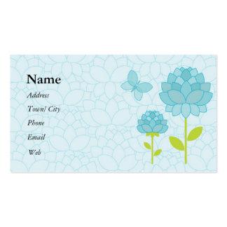 Blue peony business card