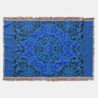 Blue Peony Throw Blanket