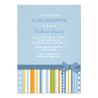 Blue Perfection Shower Invitation