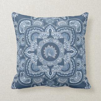 Blue Persian Peacock Cushion