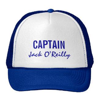 Blue Personalized Captain Mesh Hats