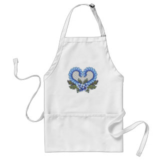 Blue Petal Heart with mesh Aprons