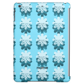 Blue Petal Pattern Case For iPad Air