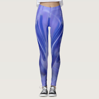 Blue petals leggings