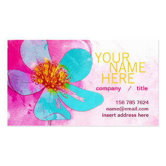 Blue Petals Profile Card Double-Sided Standard Business Cards (Pack Of 100)