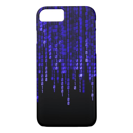 Blue Phantom Binary Code iPhone 7 Case