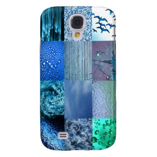 Blue Photo Collage Samsung Galaxy S4 Cover