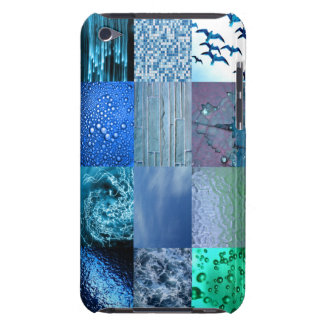 Blue Photo Collage ipod Cover