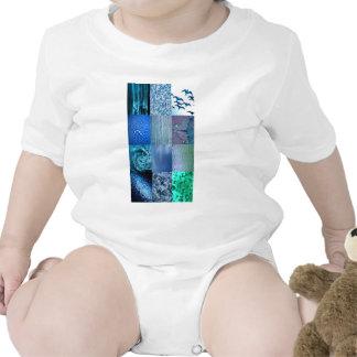 Blue Photo Collage T-shirt