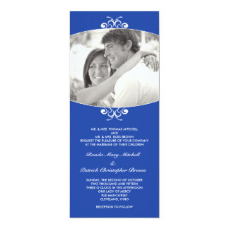 Blue Photo Wedding Invitation
