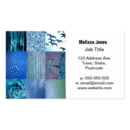 Blue Photography Collage Business Card Templates