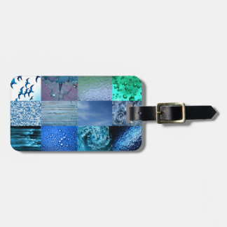 Blue Photography Collage Luggage Tag