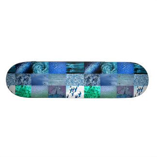 Blue Photography Collage Skateboard Decks