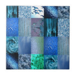 Blue Photography Collage Tiles