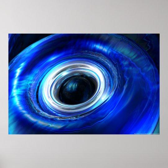 Blue Photon Wave Poster
