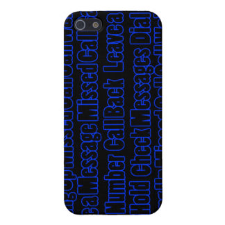 Blue Phrases Mobile Cover iPhone 5/5S Case