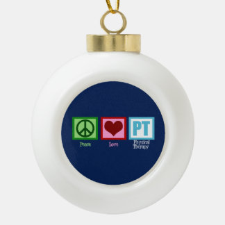 Blue Physical Therapy Ceramic Ball Christmas Ornament