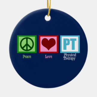 Blue Physical Therapy Christmas Ornament