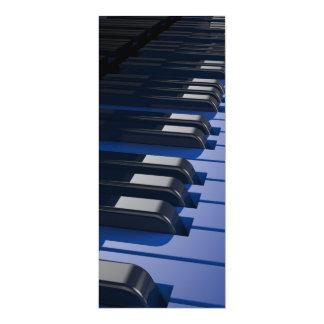 Blue Piano 10 Cm X 24 Cm Invitation Card