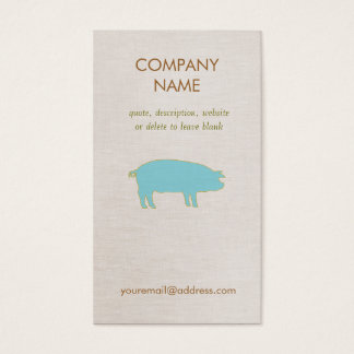 Blue Pig  Business Card