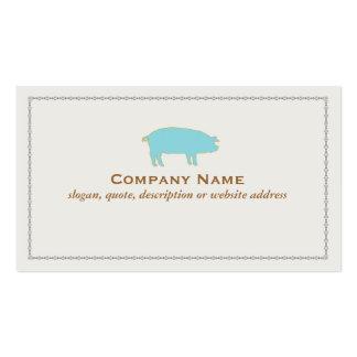 Blue Pig Business Card