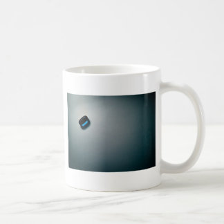 Blue pill basic white mug