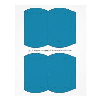 Blue  Pillow Puff Box Template 21.5 Cm X 28 Cm Flyer