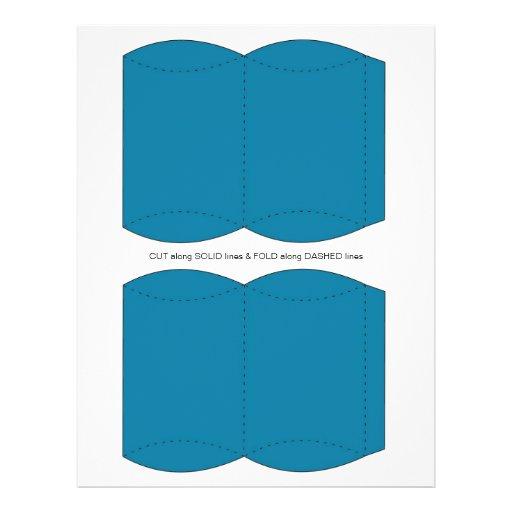 Blue  Pillow Puff Box Template Flyer Design