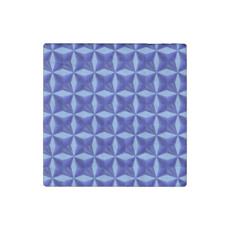 Blue Pillowed Squares Stone Magnet