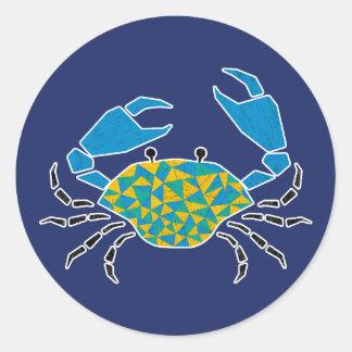 Blue Pinching Crab Sticker