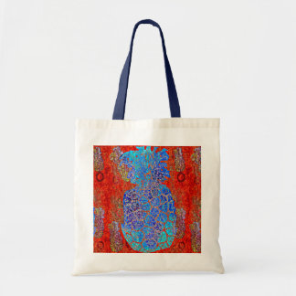 Blue Pineapple Design Tote Bag